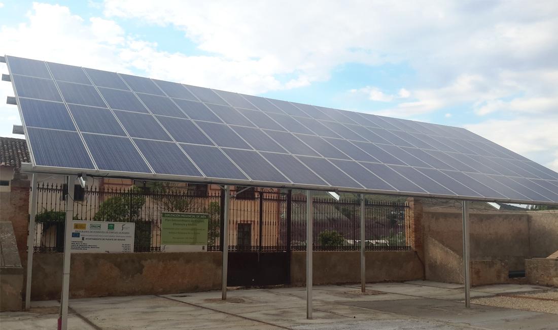 Cortijo la vicaria intelec ingenier a energ tica for Instalacion fotovoltaica conectada a red